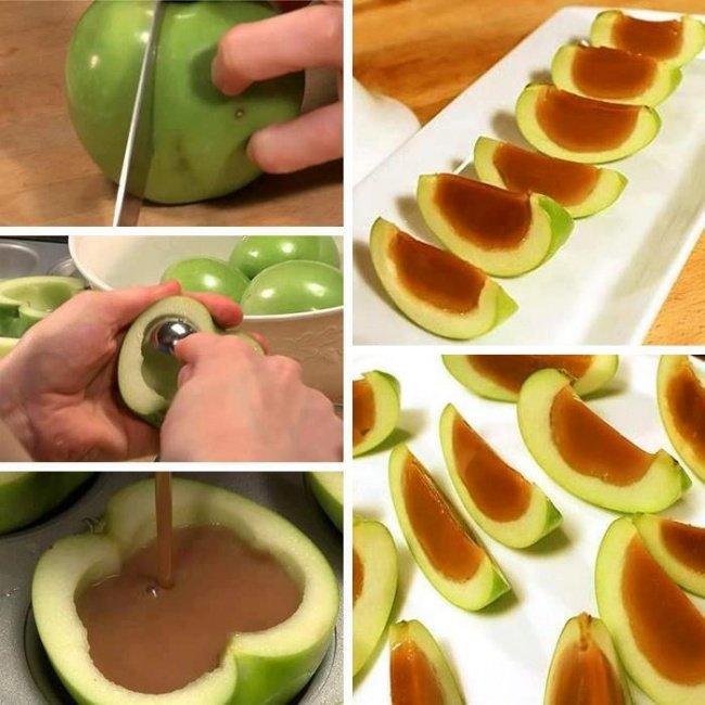 яблоко с желе