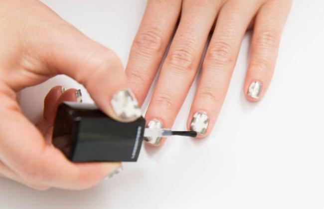 Отросшие ногти с гелем