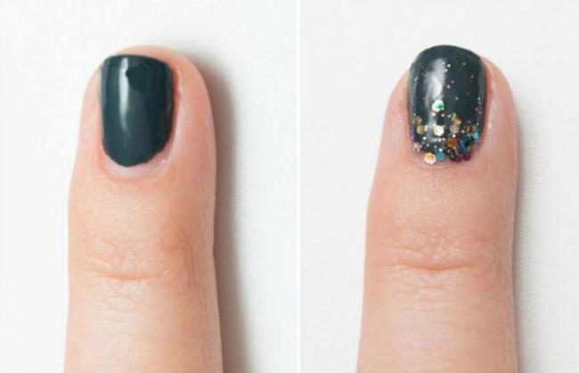 блестки для ногтей