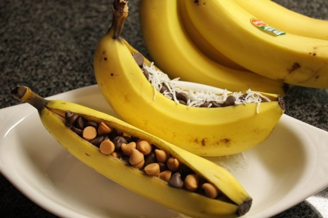 банан с орехами