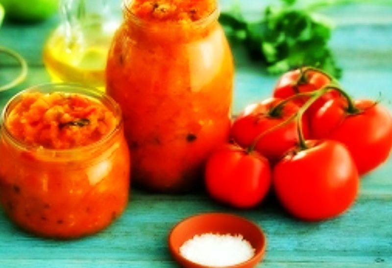 салат из помидоров