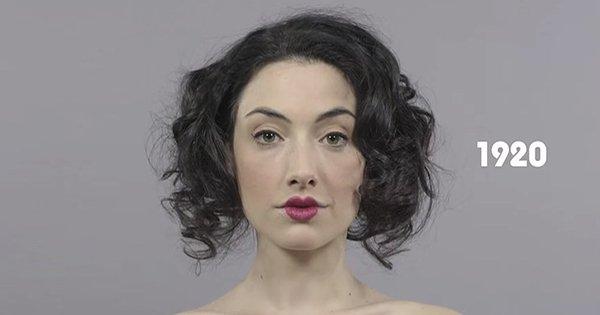 100 лет в одной минуте: как менялась мода на макияж на протяжении века.