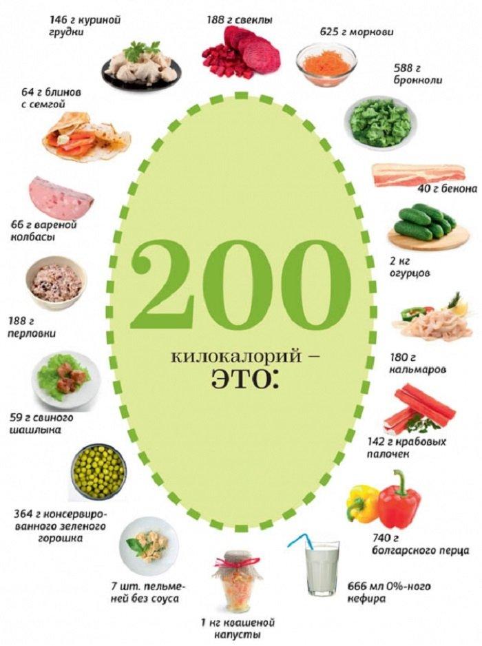 инфографика килокалории