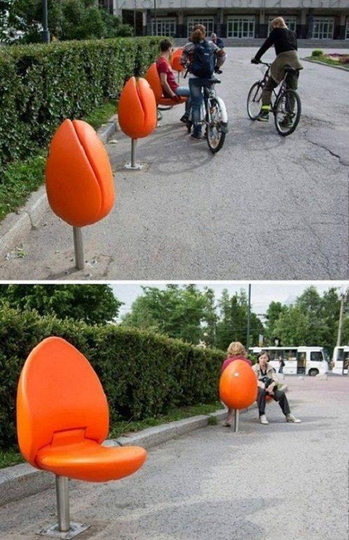 стулья на улице