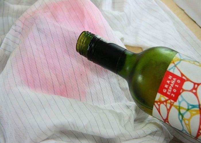 белое вино от пятен