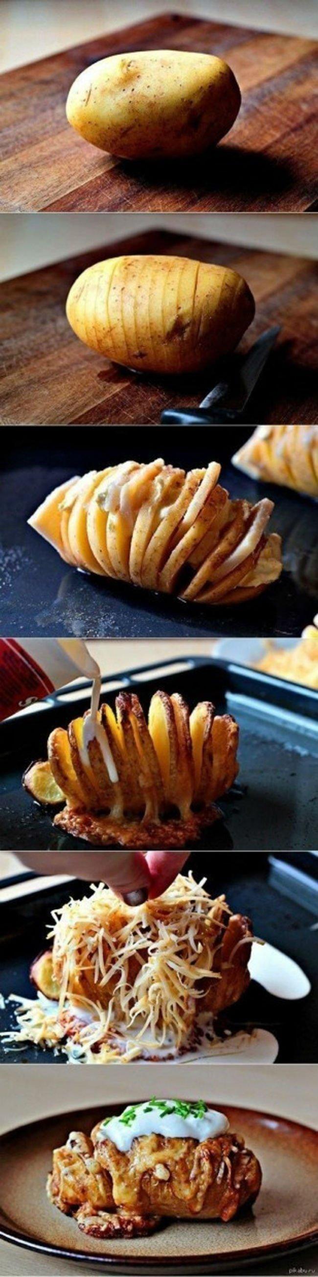 необычно запеченный картофель