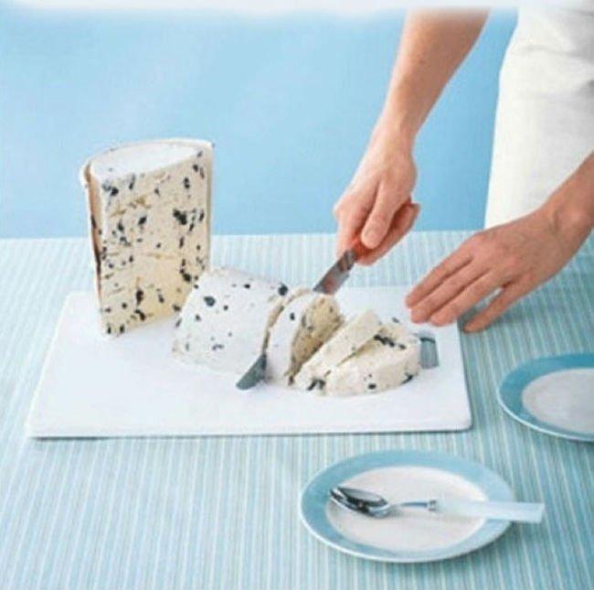 как нарезать мороженое