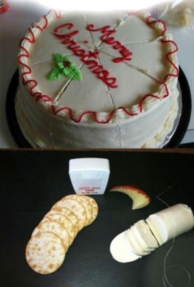 нарезка торта