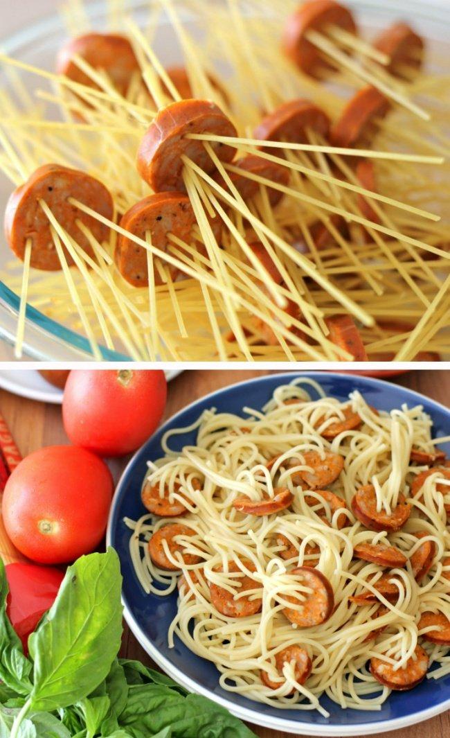 Оригинальное блюдо из макарон