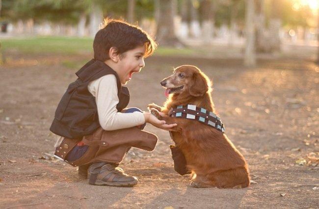 малыш с псом