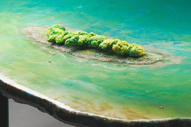 озеро на столе