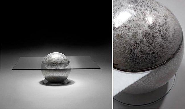 стол в виде луны
