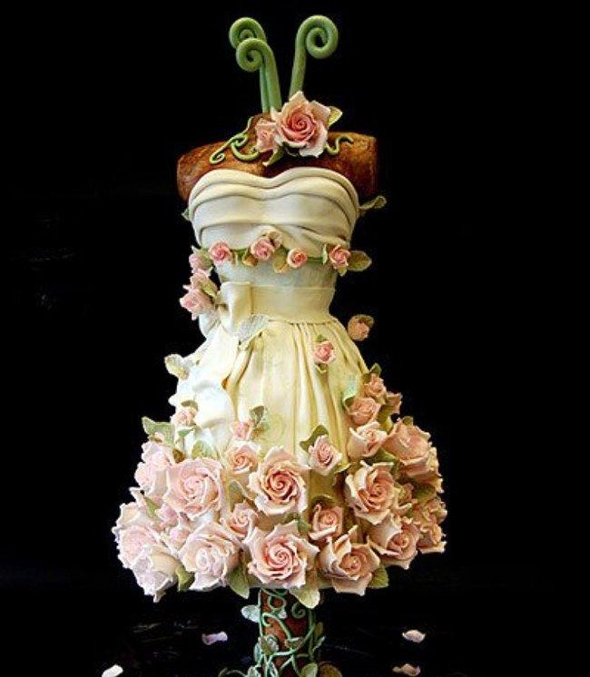торт-платье