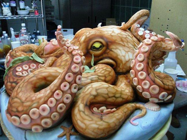 торт-осьминог