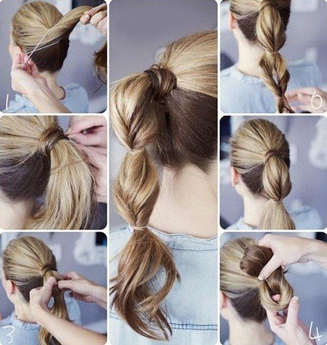 Причёски из хвоста пошагово фото