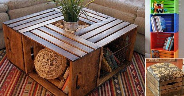 16 креативных идей вписать деревянный ящик в интерьер. Ты точно не останешься равнодушным!