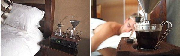 будильник и кофемашина