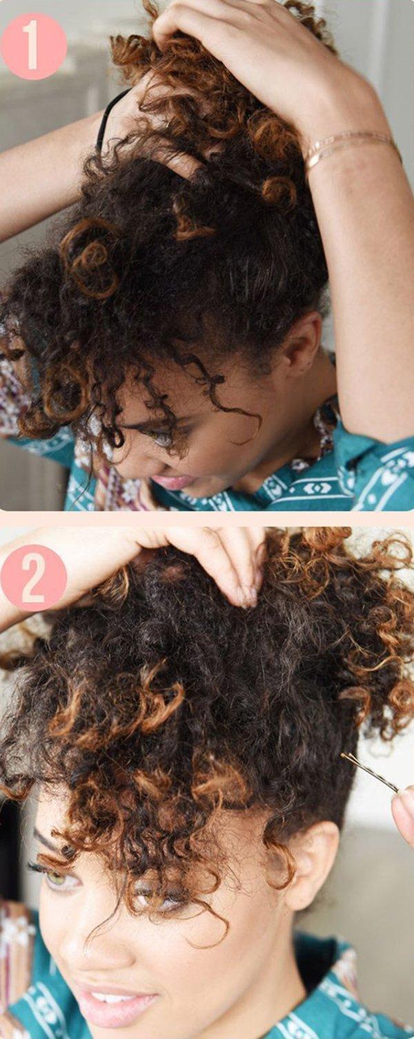 прическа на кучерявые волосы