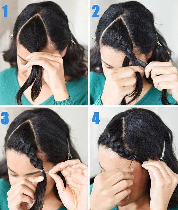 коса на одну сторону