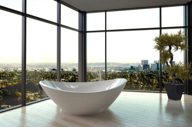 ванна с видом на город