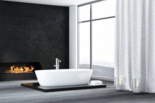 ванна у камина