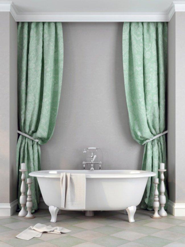 ванна со шторами