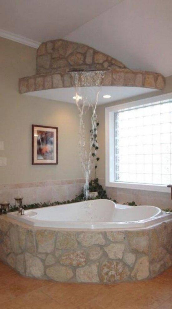 ванна с водопадом