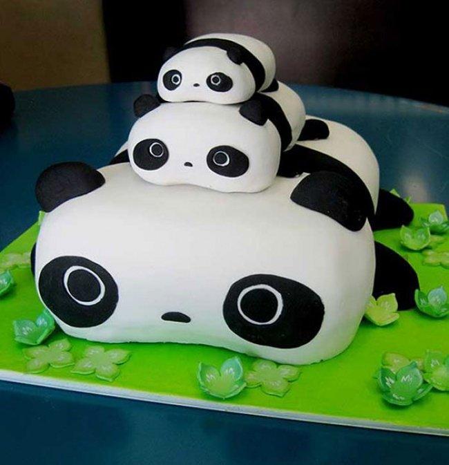 Торт с пандами