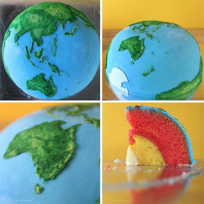 торт-планета земля