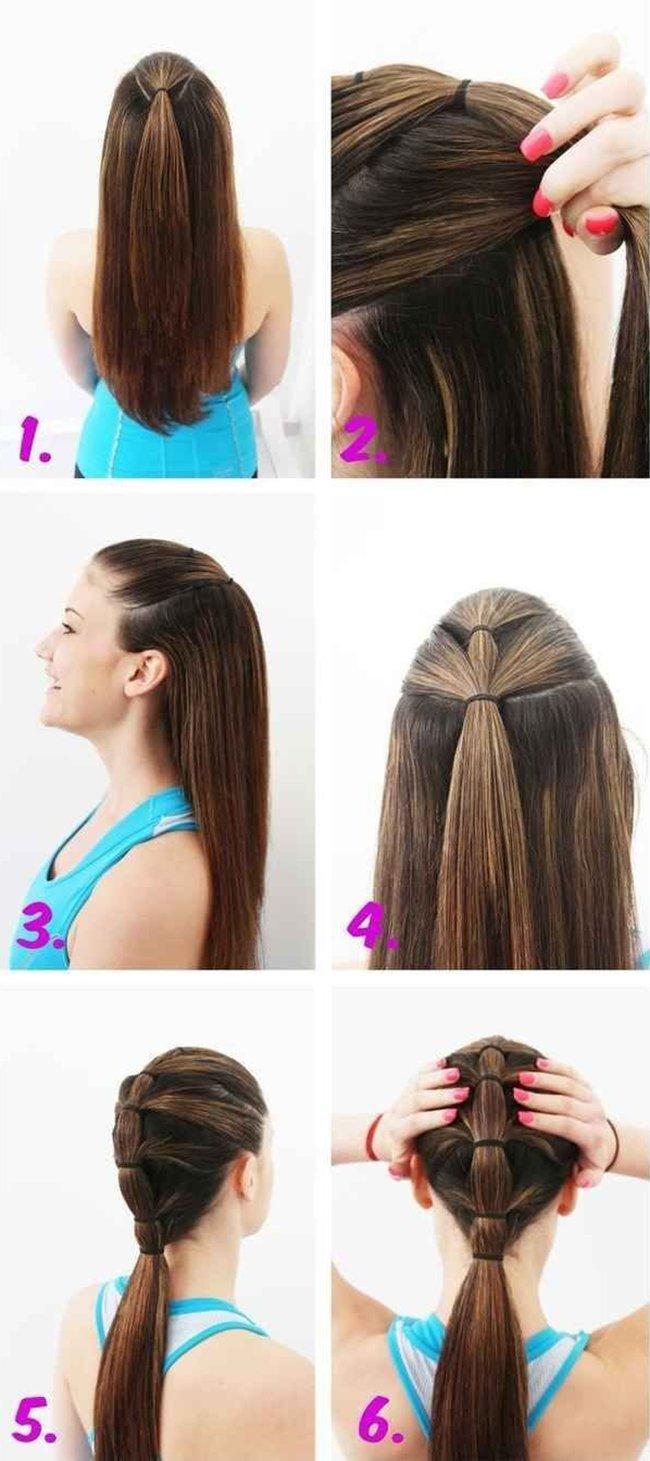 Как завязать красиво хвост на голове
