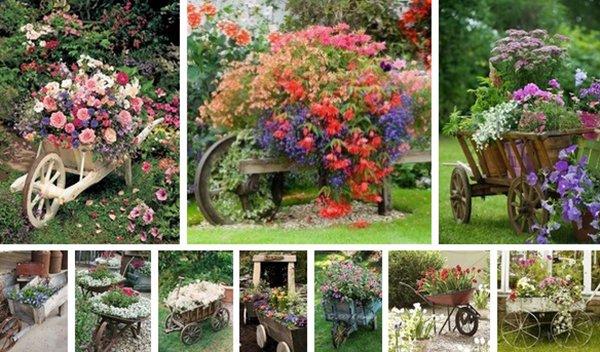 старые тачки в саду