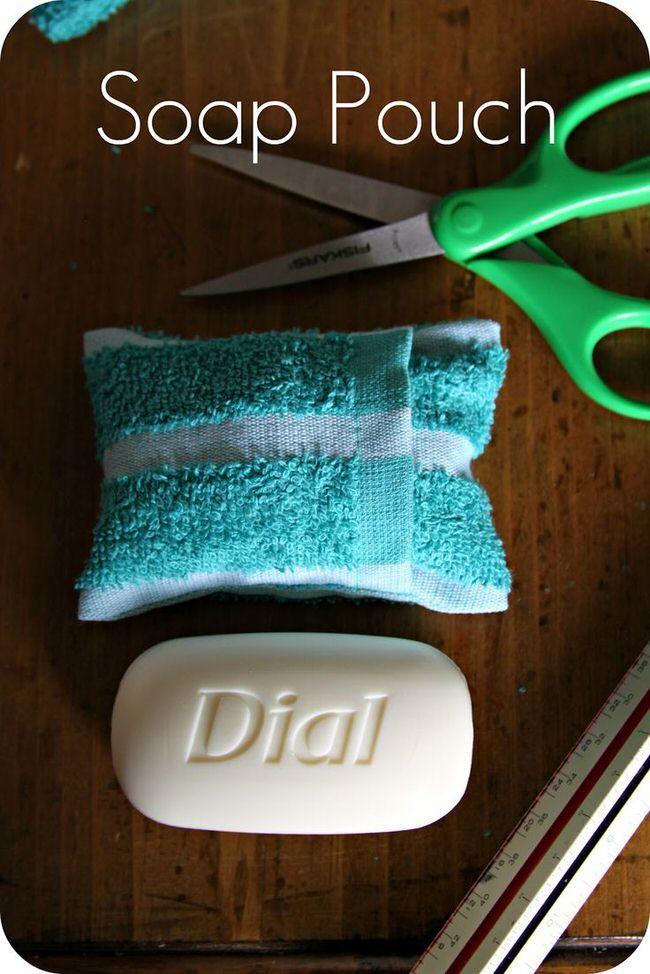 мыло в сумочке из полотенца