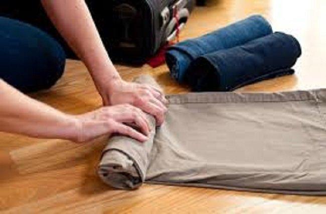 скрученные брюки