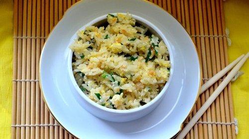 рис с чесноком