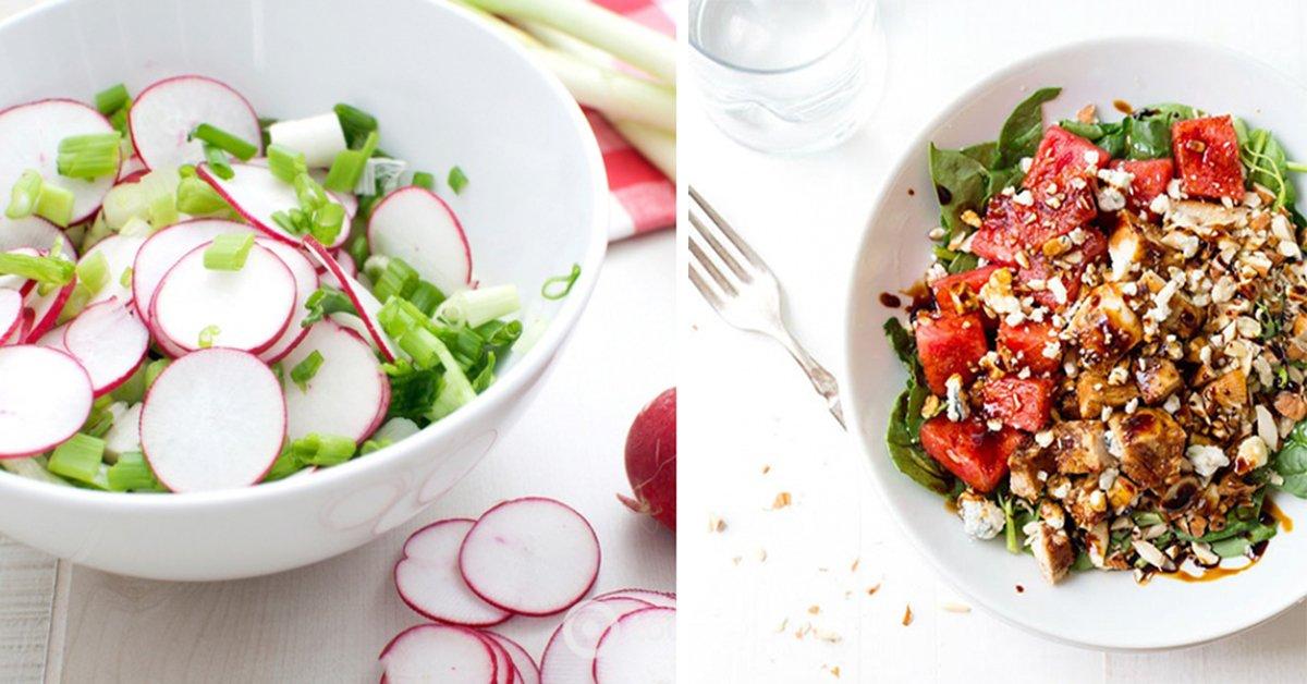 Здоровая еда может быть вкусной! 5 аппетитных салатов на каждый день.