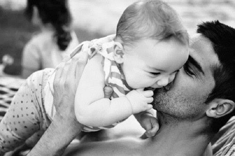 папа с дочкой