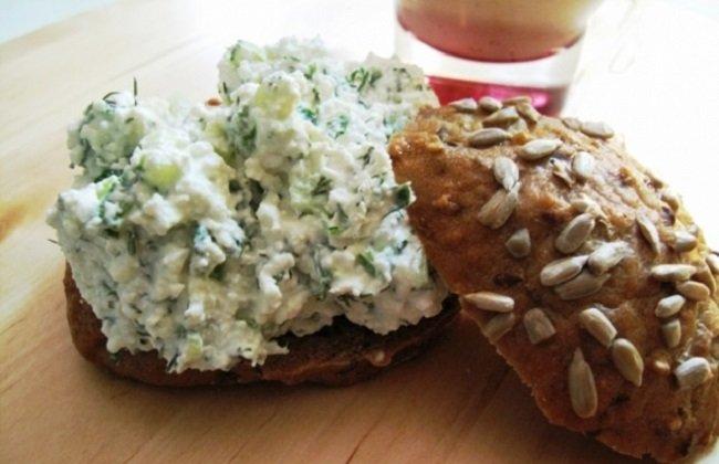 творожные бутерброды