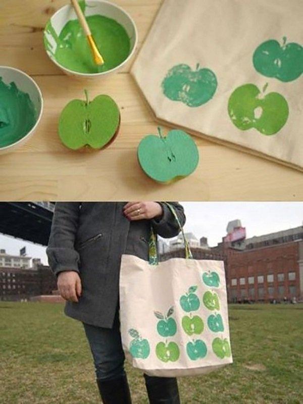 штамп из яблока