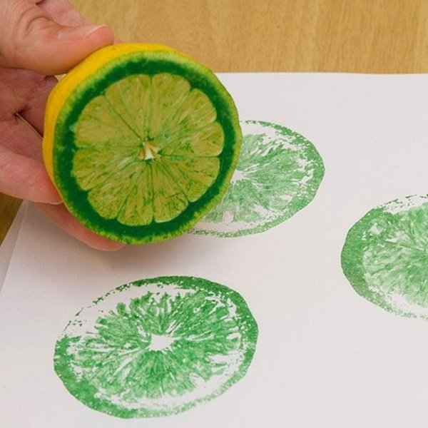 штамп из лимона