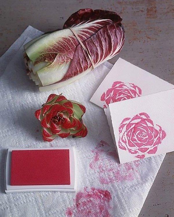 штамп-роза из капусты