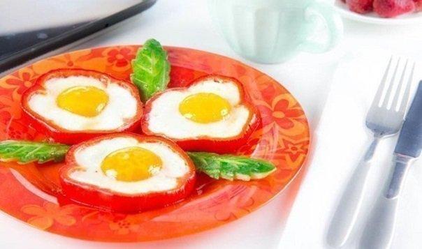 яичница в болгарском перце