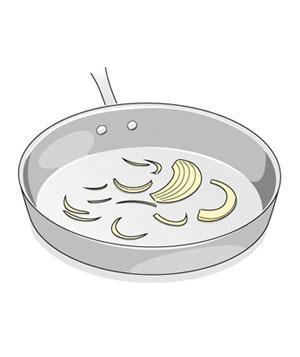 сковорода с луком