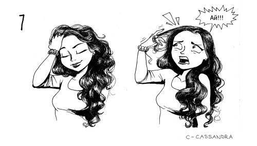 проблема длинных волос