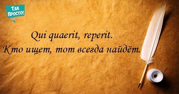 латинские изречения про жизнь всему поселок