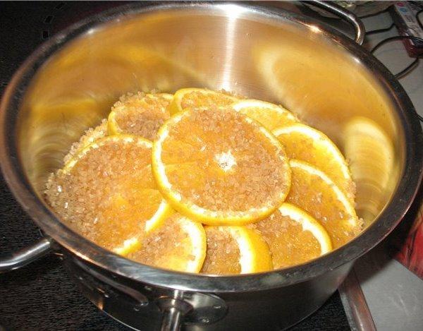 апельсины с сахаром