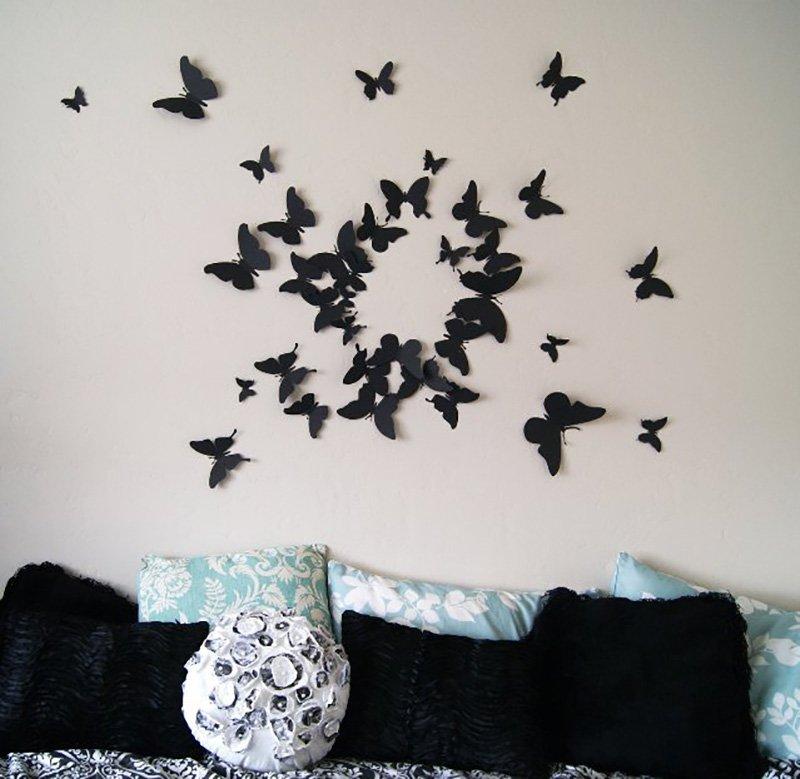бабочки на стену декор