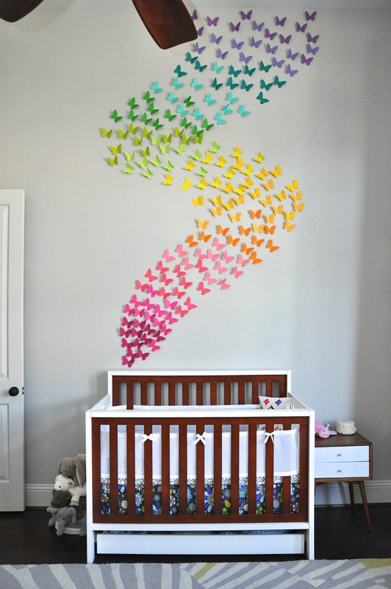 бабочки на стену сделать самому
