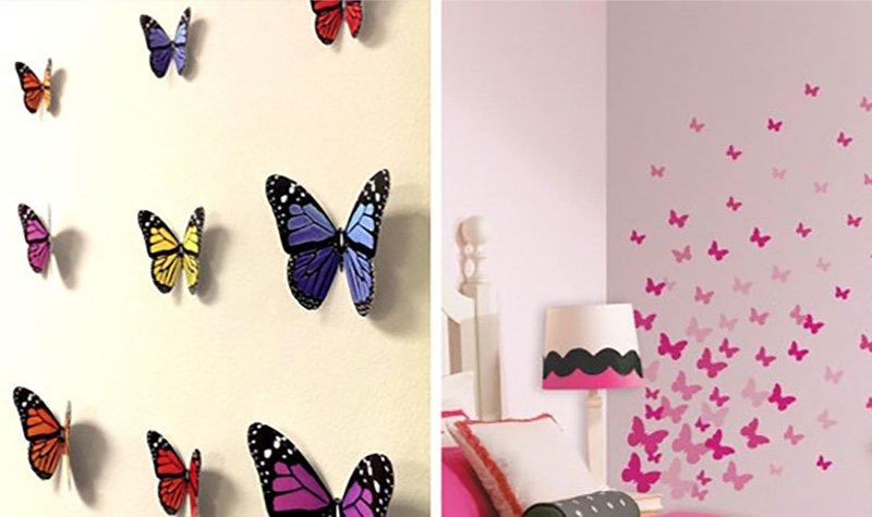 бабочки в рамке на стену