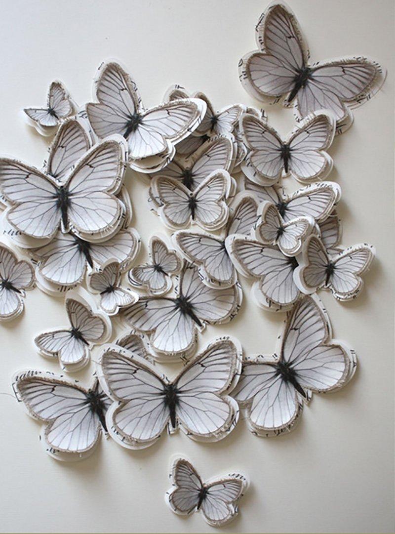 бабочки на стену в детскую