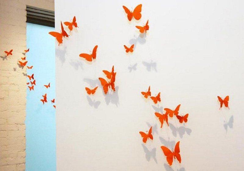 бабочки на стену идеи